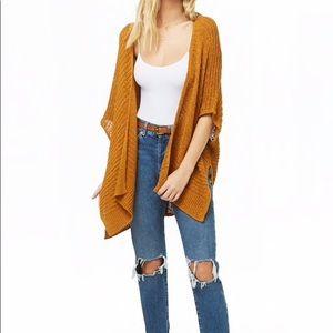 Fall Mustard Open Loop Sweater NWT Sz Med